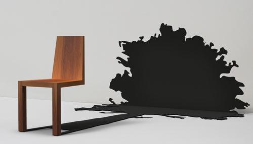 Diseño de silla con sombra