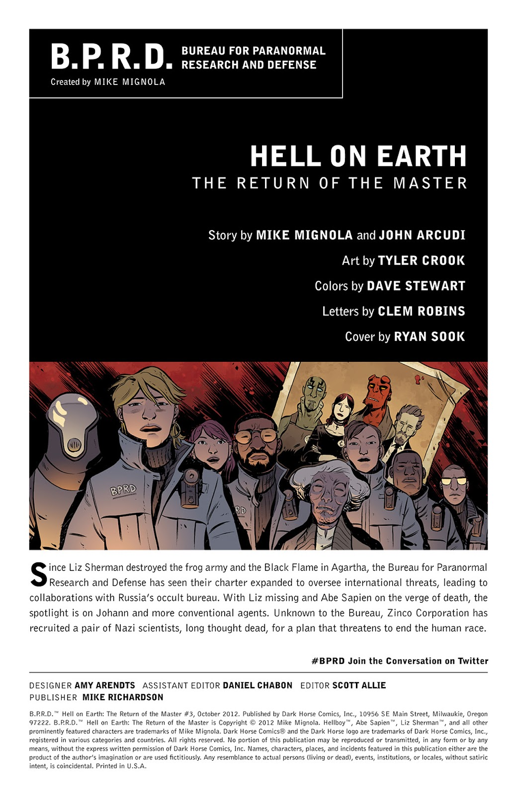 Read online B.P.R.D. Hell on Earth: The Return of the Master comic -  Issue #3 - 2