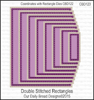 Divinity Designs Custom Double Stitched Rectangles Dies
