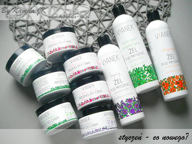 polskie kosmetyki naturalne Vianek peeling masło żel pod prysznic seria energetyzująca odżywcza kojąca