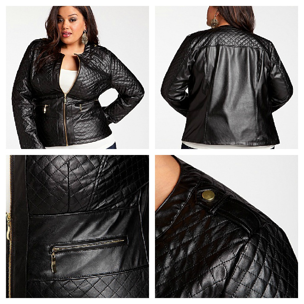 d4b600dfe792c The Quilted Faux Leather Jacket also from Ashley Stewart looks stunning the  quilt makes it stand out and the back softens the jacket by not having so  much ...
