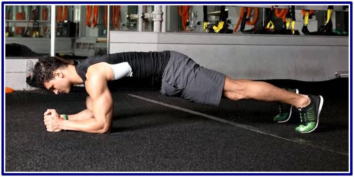 Ejercicio de plancha para hombres ectomorfos