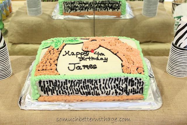 Safari cake www.somuchbetterwithage.com