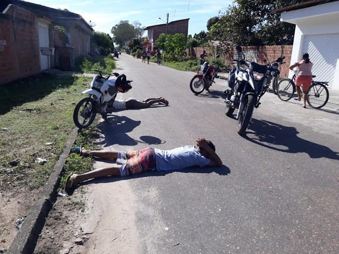Dupla é presa pela guarda municipal no bairro Corrente
