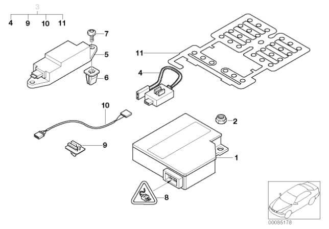 BMW E46 Penger Seat Occupancy Sensor Byp Air Bag Schematics Seat Sensor on