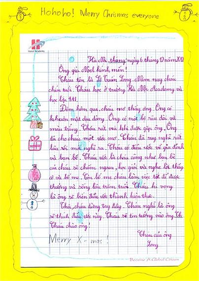 Lá thư gửi ông già Noel