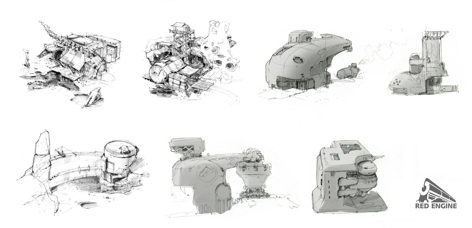 Red Engine Studios Sketching For Environment