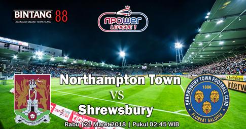 PREDIKSI Northampton Town vs Shrewsbury  21 MARET 2018
