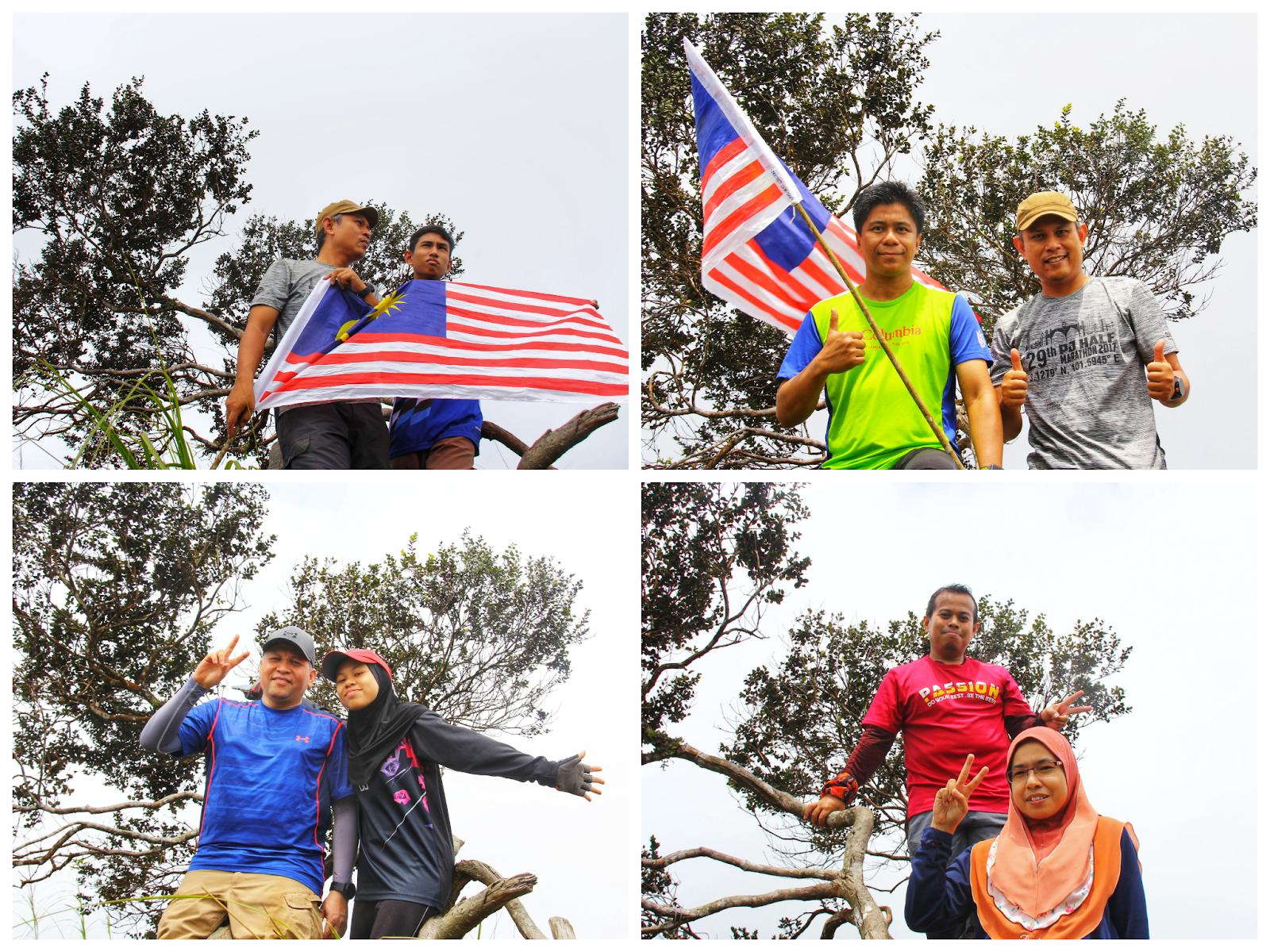 Kami di puncak Gunung Ulu Semangkuk