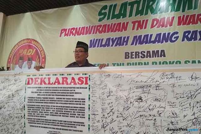 2.500 Purnawirawan TNI Dukung Prabowo-Sandi