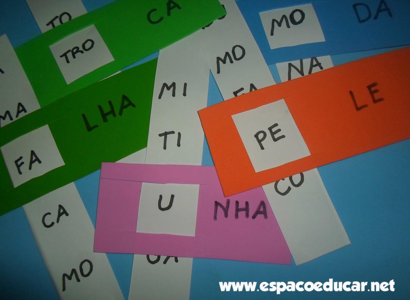 Amado ESPAÇO EDUCAR: Atividade de alfabetização: Jogo do encaixe para  AL34