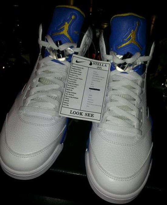 new concept 092ac 7f592 Air Jordan 5 Retro Laney White Royal Maize shoes