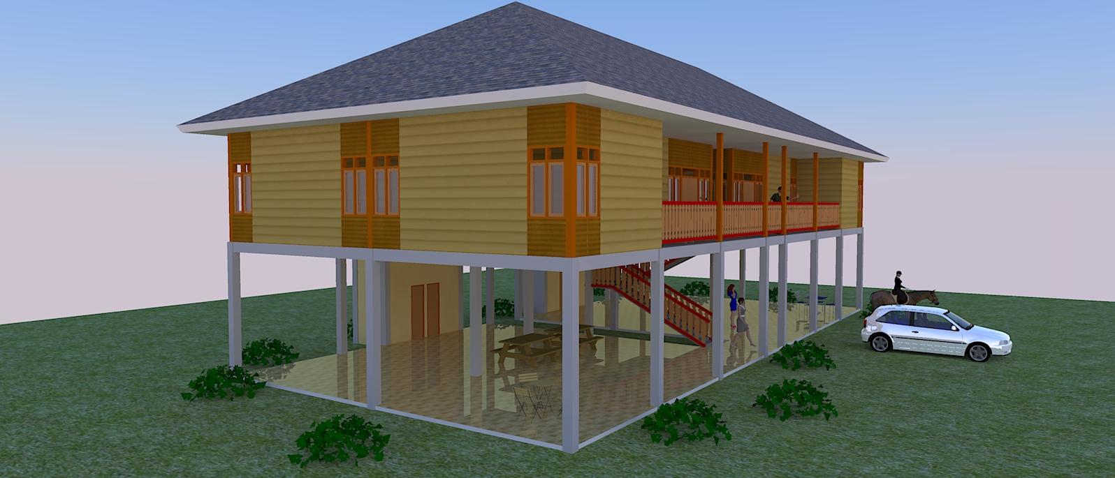 Rumah Kayu Kavling Kebun Jasa Pembuatan Site Plan
