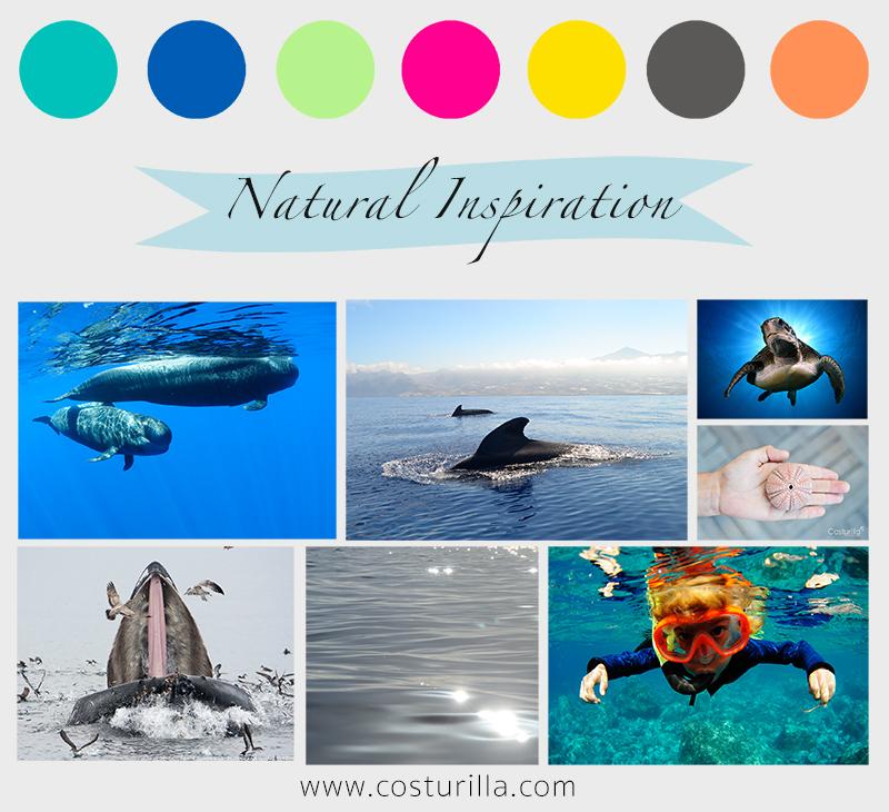 Diseño inspirado en el mar cetaceos