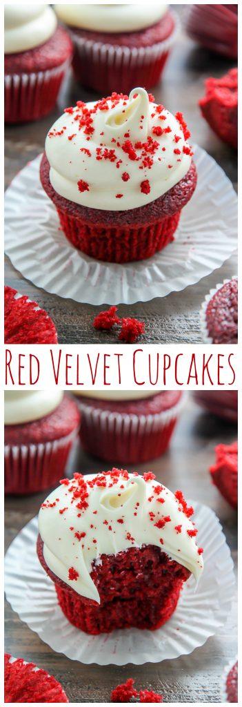 One Bowl Red Velvet Cupcakes