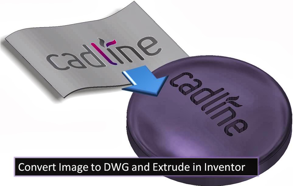 Convert Image to DWG and Extrude in Inventor 2014 & Raster