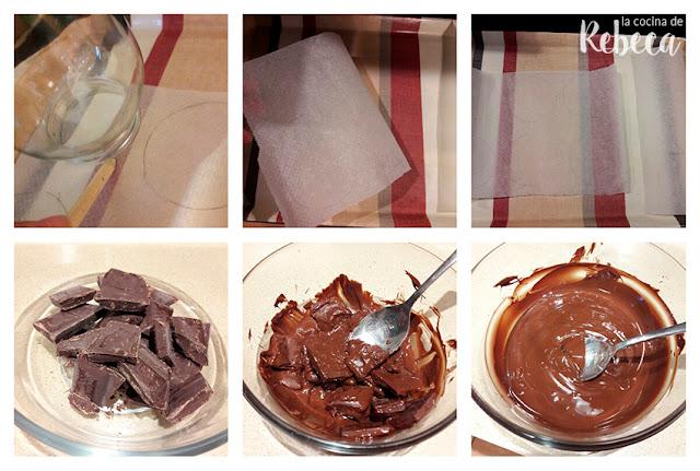 Receta de mendiants (chocolatinas con frutos secos y frutas desecadas) 01
