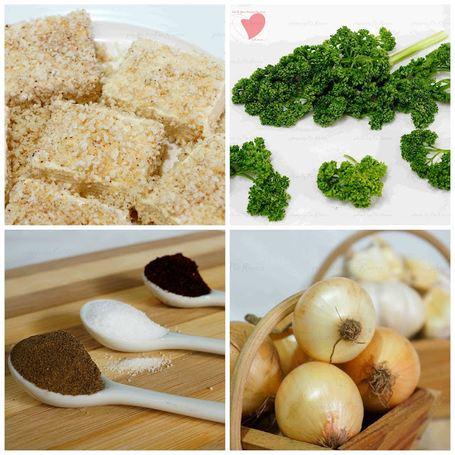 Mapo Inspired Breaded Tofu in Pasta Sauce Ingredients