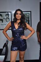 Sanjana looks happy in sparkling short Deep neck Purple Gown ~  Exclusive 69.JPG