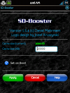 Apps) SD BOOSTER!! boost your sd cards read/write speed
