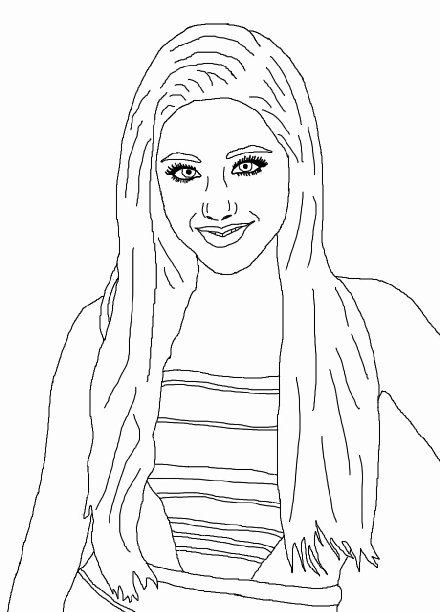 Chelsea's Digital Art Blog: Celebrity Coloring Book Page