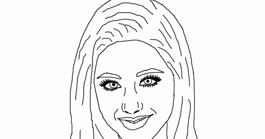Chelsea's Digital Art Blog: Celebrity Coloring Book Page