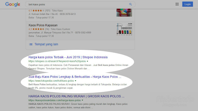 Pencarian dengan keyword umum