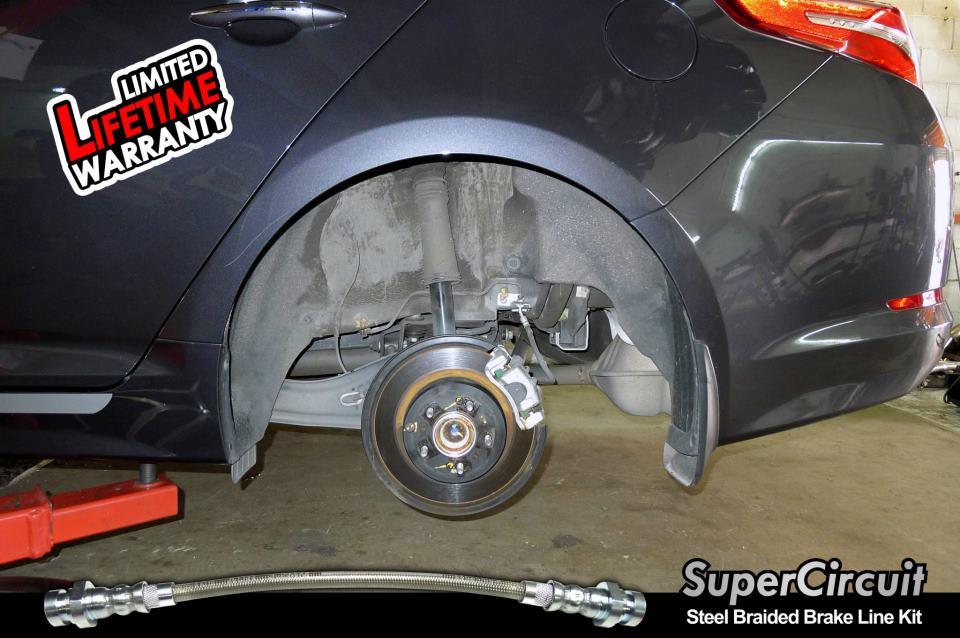 Supercircuit Steel Braided Brake Lines Kia Optima K5