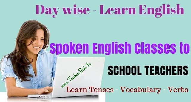 Spoken English,School Teachers,Learn Tenses,Vocabulary,Verb forms