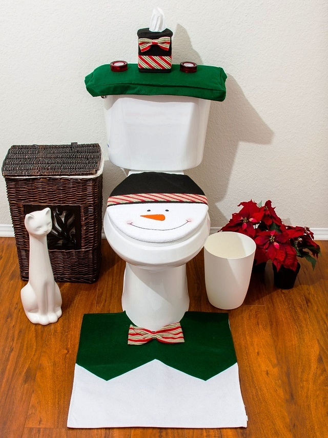 5 Inspiring Christmas Toilet Seat Cover Decor Units