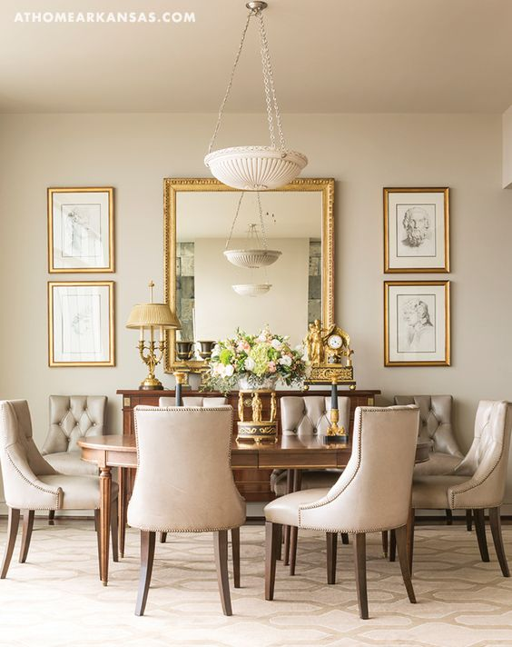 Mirror Wall Decor For Dining Room Leadersrooms