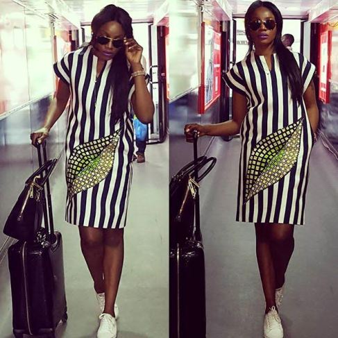 Seyi Shay arrives Ghana in style (photos)