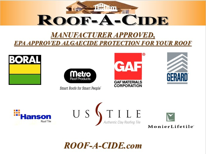 Roof-A-Cide® Blog: Roof Cleaning for Communities: 800-806
