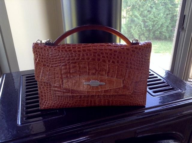 vintage croc bag