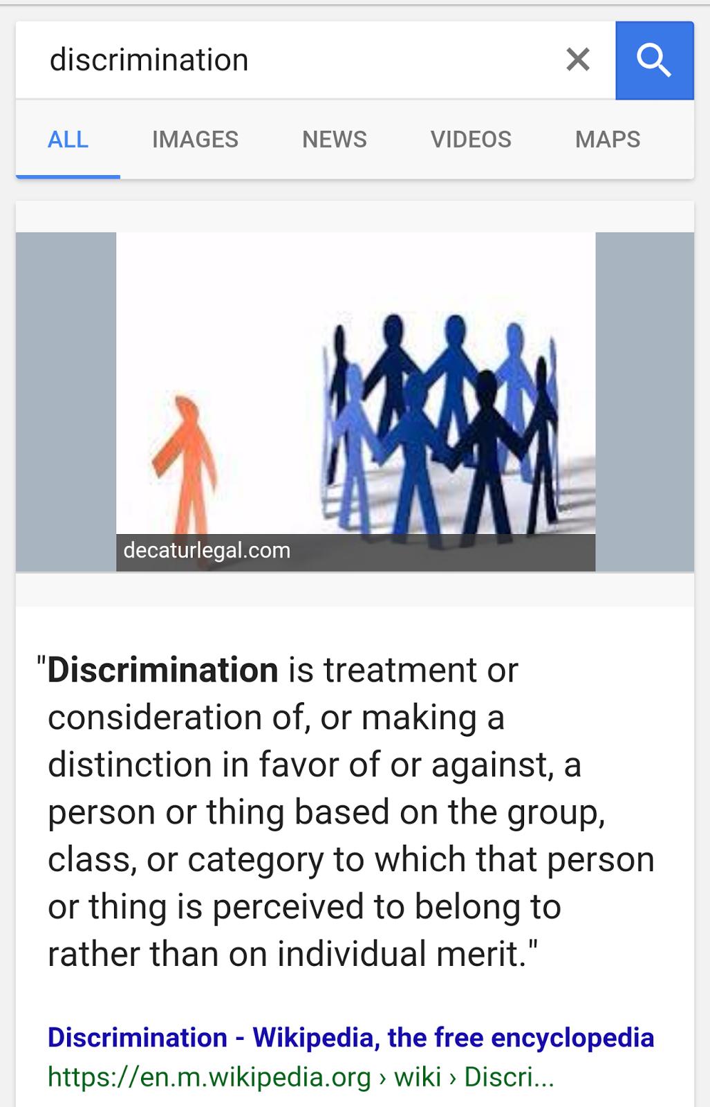positive discrimination La discrimination positive (terme considéré comme impropre par le gdt) ou action positive ou dédiscrimination est le fait de de façon temporaire, en vue de rétablir l'égalité des chances les discriminations contre lesquelles il s'agirait de lutter, et qui entraînent un traitement inégalitaire.