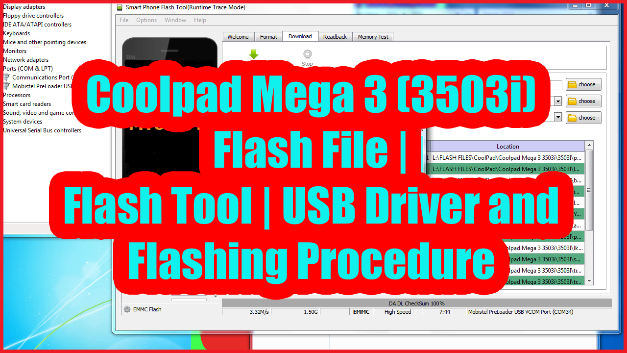 Coolpad Mega 3 (3503i) All in One Software Solution Here - Flash