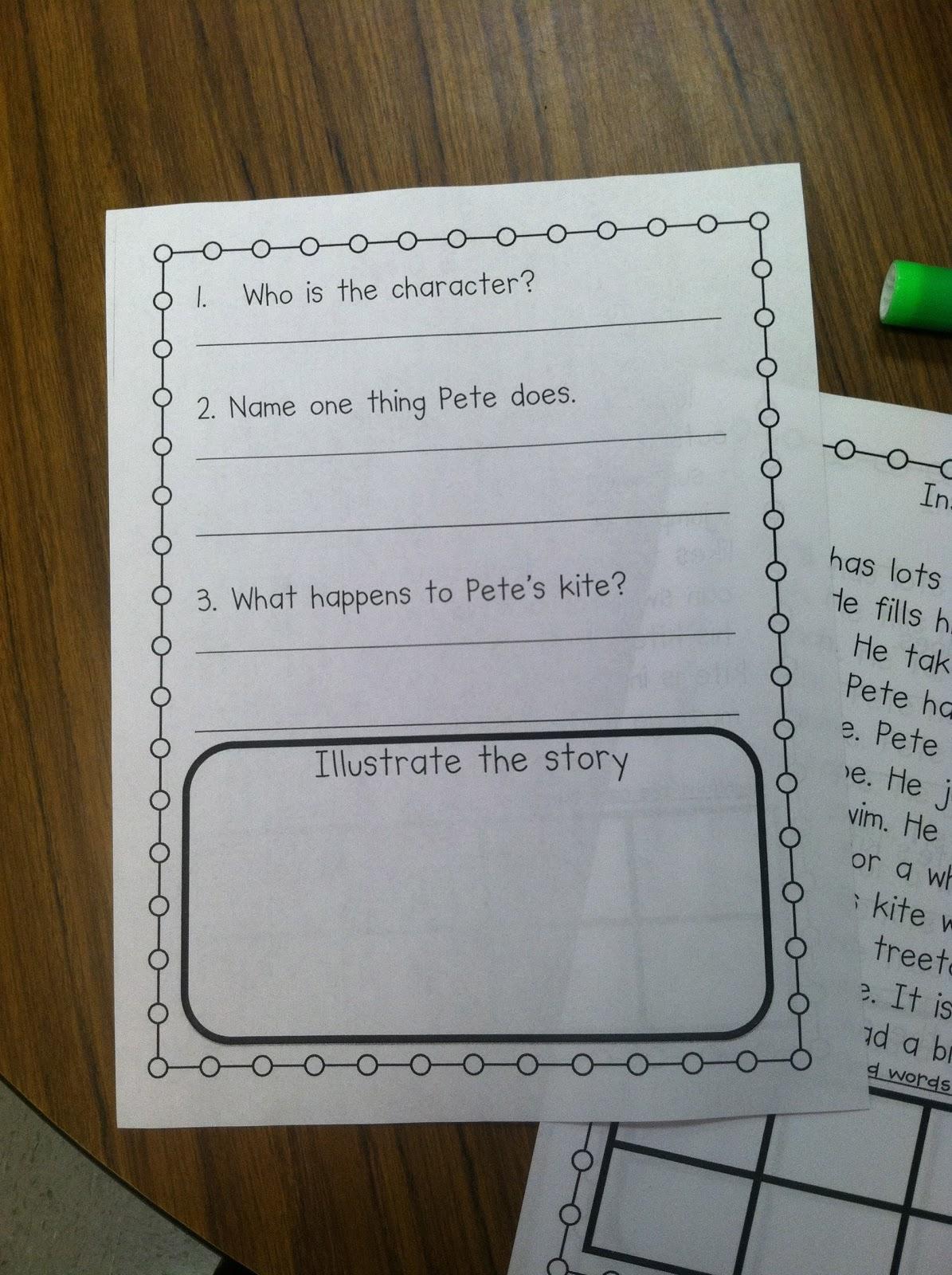 Life In First Grade Scott Foresman Decodable Activities