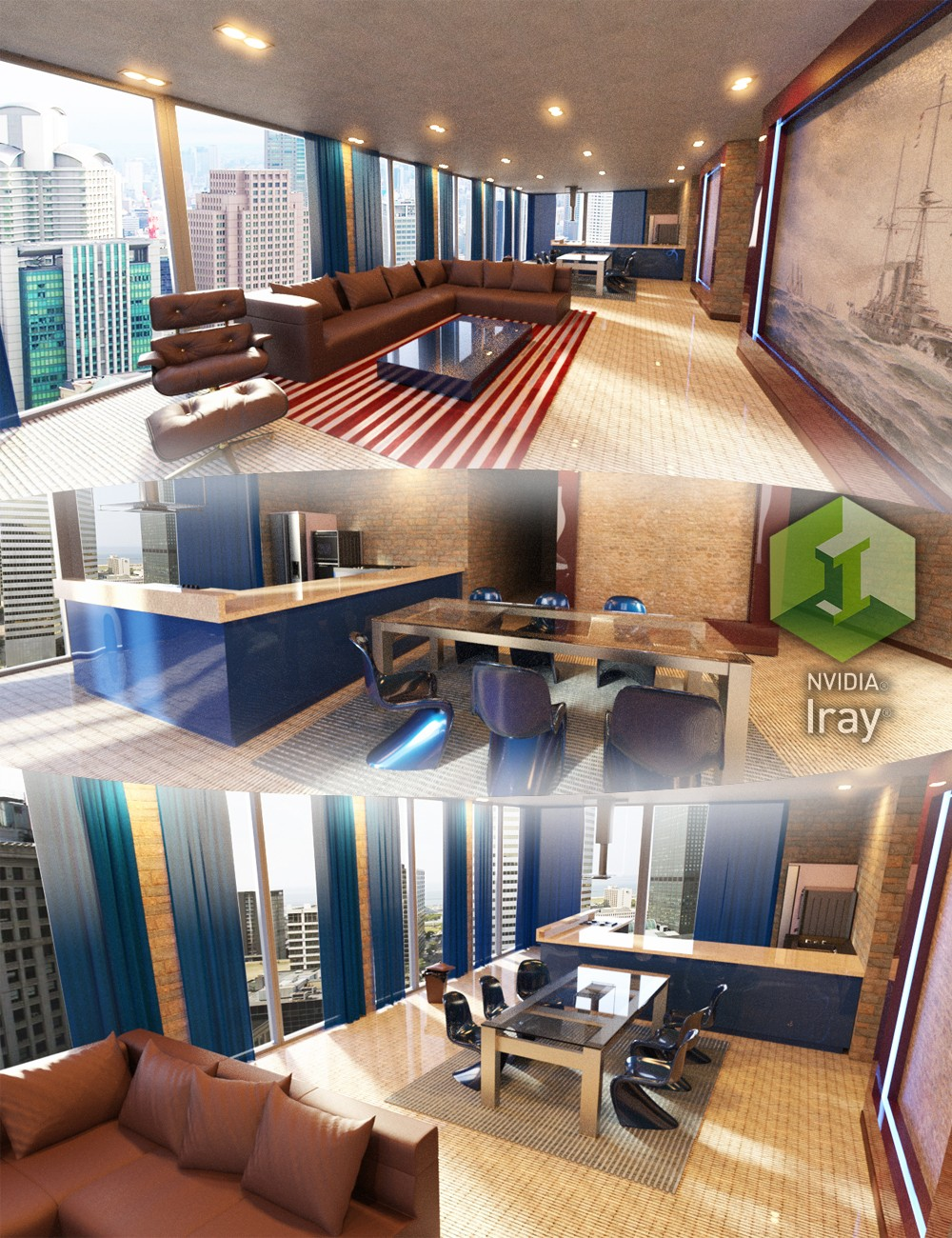 Download daz studio 3 for free daz 3d tesla studio for Studio apartment design 3d