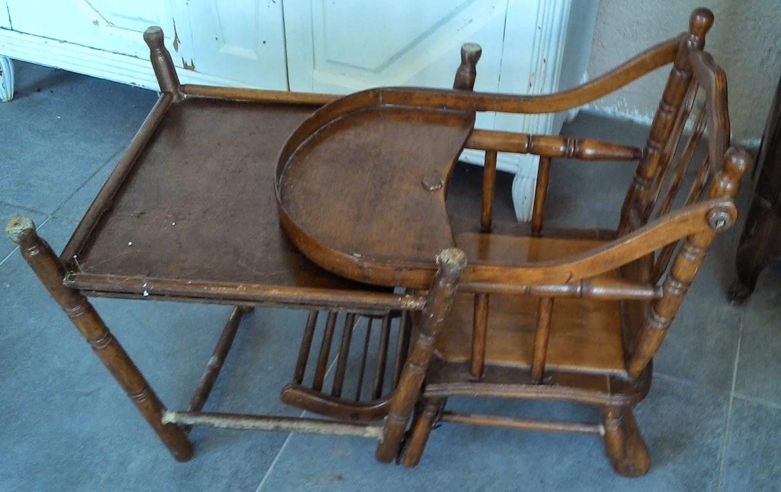 chaise haute enfant fa on bambou thonet ancienne a systeme pliante. Black Bedroom Furniture Sets. Home Design Ideas