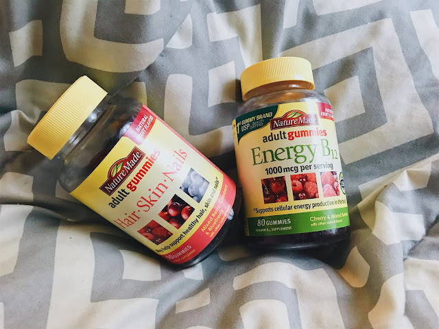 #ad #AGummyYouCanTrust #NatureMade #USP In the weeks and months following childbirth it can be hard to find time to do anything for yourself besides a nap and the occasional shower. It's almost been 4 months since McKenna was born and I'm still struggling with this. Lately, I've found a few easy ways to feel like my old self again and do something just for me. Today I've partnered with Nature Made® to share a few simple ways you can feel and look your best after baby arrives!