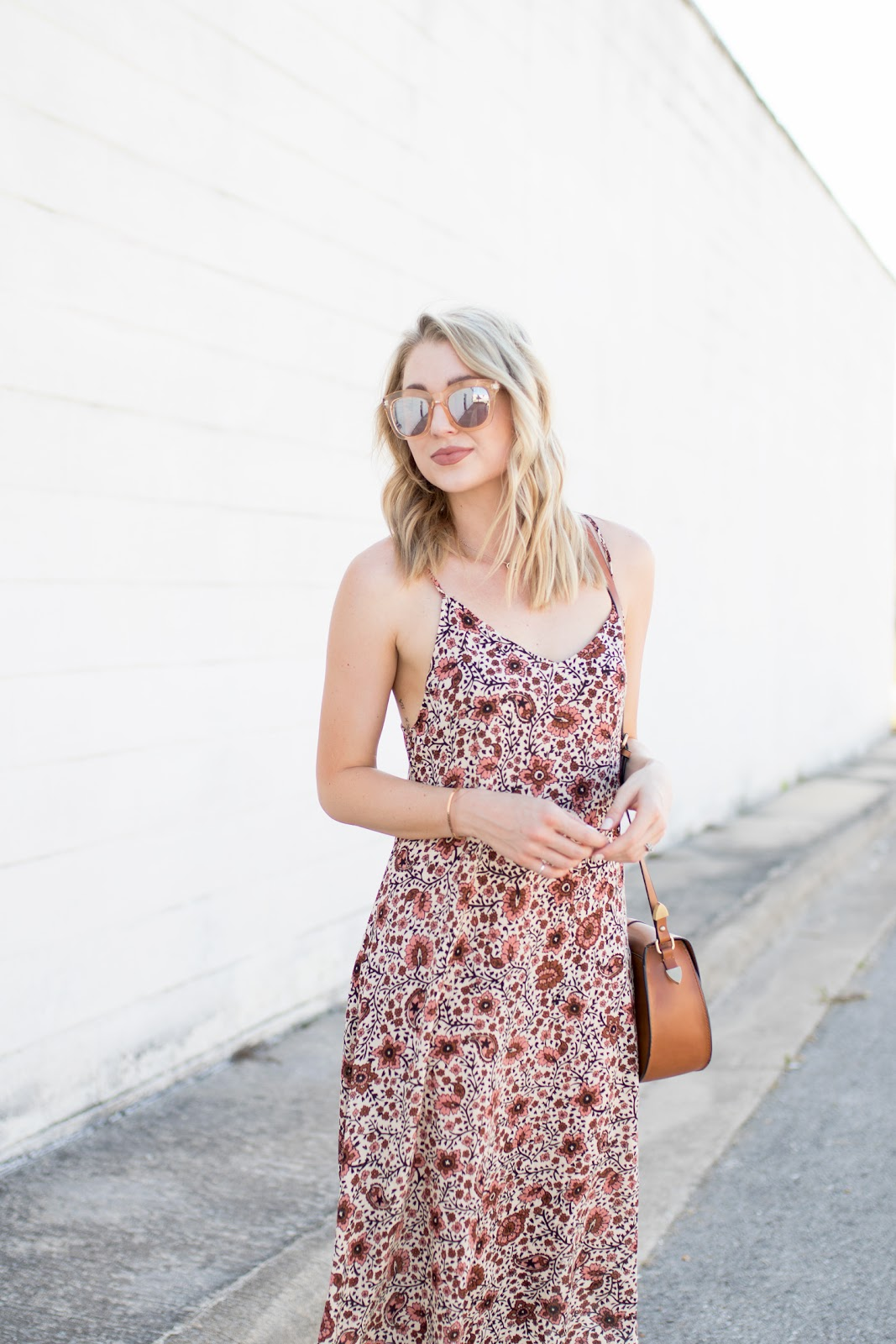 Floral and paisley print dress