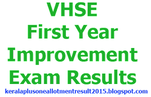 VHSE First Year Improvement Exam Results August 2014