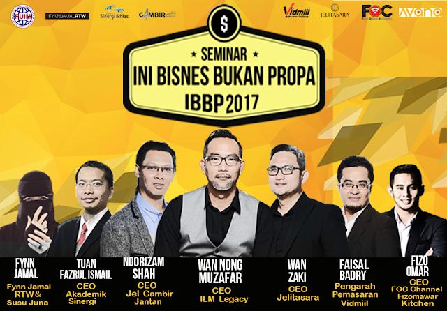 Seminar Ini Bisnes Bukan Propa 2017 (IBBP 2017)