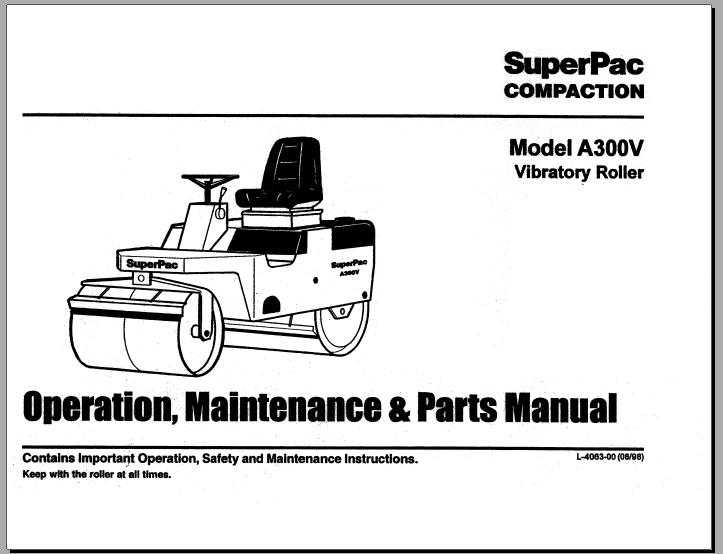 Free Automotive Manuals: SUPERPAC COMPACTION MODEL A300V