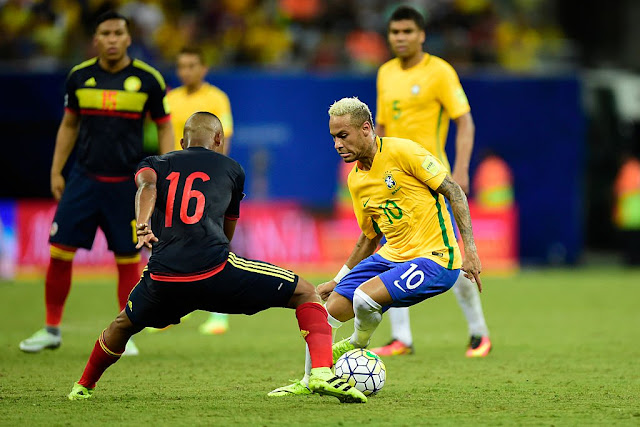 Horario Jogo do Brasil x Colômbia pela Eliminatórias da Copa - 05/09/2017