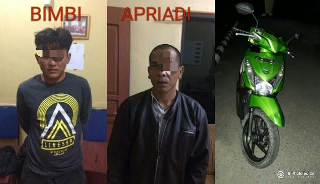 Bimbi Pencuri Motor Guru Ngaji Dan Penadah Di Tangkap Polisi
