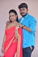 Bhimbika in Red Orange Saree at Sikhandi Movie Launch Spicy Pics 2.jpg