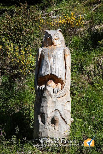 Scultura in legno al Piano delle Cascine