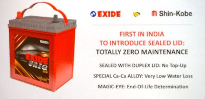 Exide Uniq Totally zero maintenance Battery