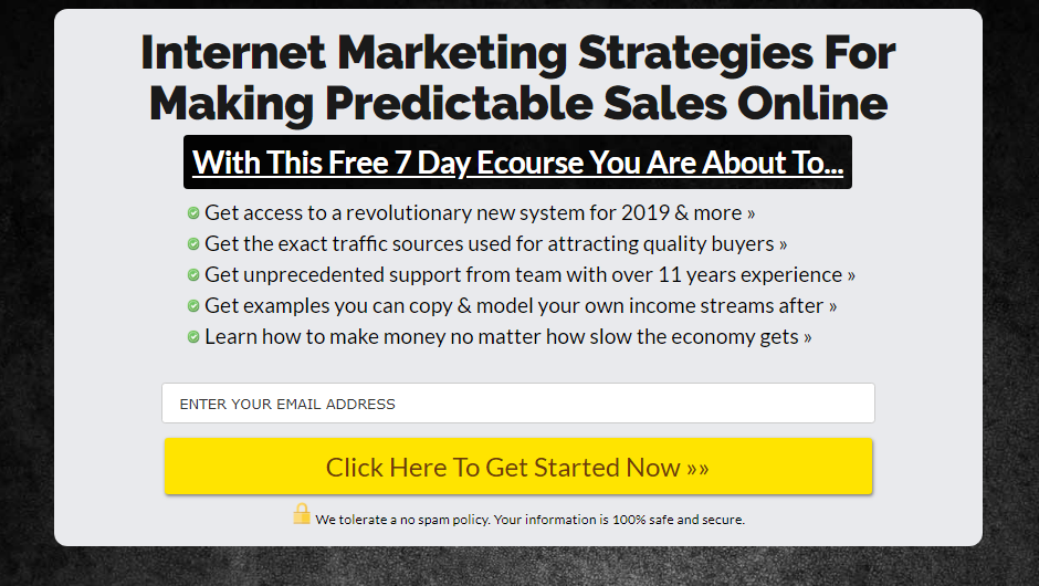 FREE: Get my internet marketing strategies for making consistent sales online!
